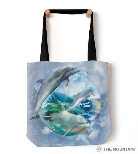 The Mountain® Dolphin Bubble Tote Bag